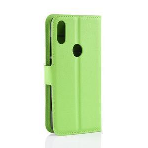 Stand PU kožené peněženkové pouzdro na Xiaomi Redmi Note 7 - zelené - 3