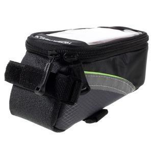 Prostorná brašnička na kolo na mobil do rozměru 124 x 59 x 7,6 mm - zelený lem - 3