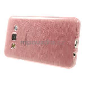 Broušené pouzdro na Samsung Galaxy A3 - růžová - 3
