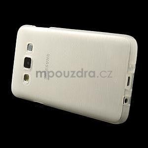 Broušené pouzdro na Samsung Galaxy A3 - bílá - 3