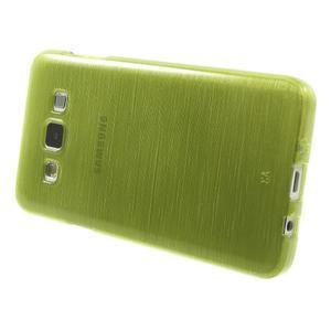 Broušené pouzdro na Samsung Galaxy A3 - zelená - 3