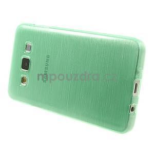 Broušené pouzdro na Samsung Galaxy A3 - světle zelená - 3