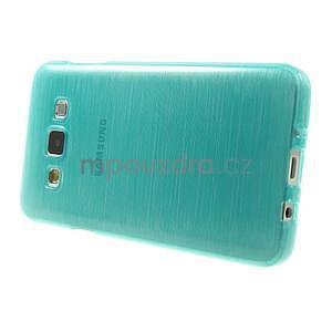 Broušené pouzdro na Samsung Galaxy A3 - tyrkysová - 3