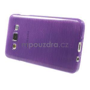 Broušené pouzdro na Samsung Galaxy A3 - fialová - 3