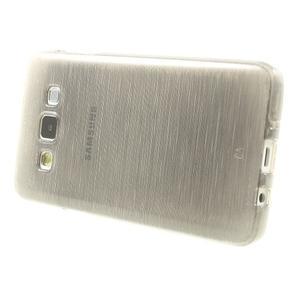 Broušené pouzdro na Samsung Galaxy A3 - šedá - 3