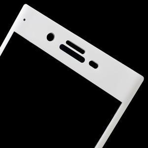Celoplošné protinárazové sklo na Sony Xperia XZ - bílé - 3