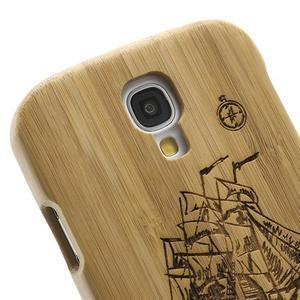 Dřevené pouzdro rozepínací na Samsung Galaxy S4 - loď - 3