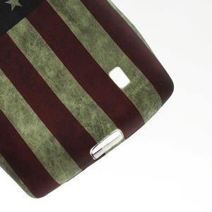 Gelové pouzdro na Nokia Lumia 520- USA vlajka - 3