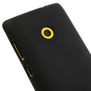Gelové matné pouzdro na Nokia Lumia 520 - černé - 3