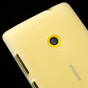 Gelové matné pouzdro na Nokia Lumia 520 - bílé - 3