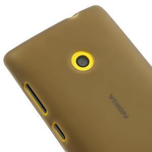 Gelové matné pouzdro na Nokia Lumia 520 - šedé - 3