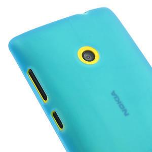 Gelové matné pouzdro na Nokia Lumia 520 - světlemodré - 3