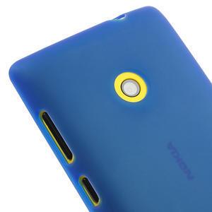 Gelové matné pouzdro na Nokia Lumia 520 - modré - 3