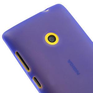 Gelové matné pouzdro na Nokia Lumia 520 - fialové - 3