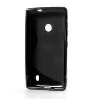 Gelové S-line pouzdro na Nokia Lumia 520- černé - 3/6