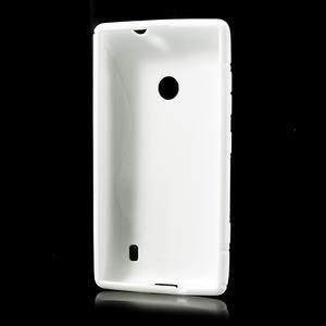 Gelové S-line pouzdro na Nokia Lumia 520- bílé - 3