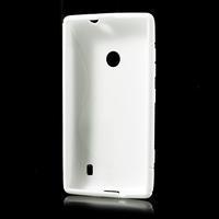 Gelové S-line pouzdro na Nokia Lumia 520- bílé - 3/6