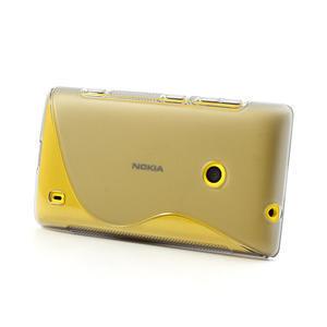 Gelové S-line pouzdro na Nokia Lumia 520- šedé - 3