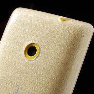 Gelové kartáčové pouzdro na Nokia Lumia 520- bílé - 3