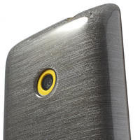 Gelové kartáčové pouzdro na Nokia Lumia 520- šedé - 3/5