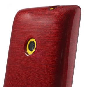 Gelové kartáčové pouzdro na Nokia Lumia 520- červené - 3