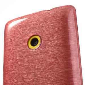 Gelové kartáčové pouzdro na Nokia Lumia 520- světlerůžové - 3