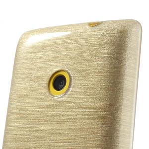 Gelové kartáčové pouzdro na Nokia Lumia 520- zlaté - 3