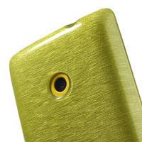 Gelové kartáčové pouzdro na Nokia Lumia 520- zelené - 3/5