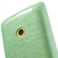 Gelové kartáčové pouzdro na Nokia Lumia 520- zelenomodré - 3/5