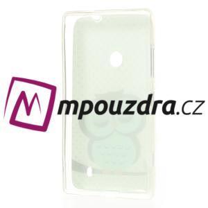 Gelové pouzdro na Nokia Lumia 520 - sova - 3