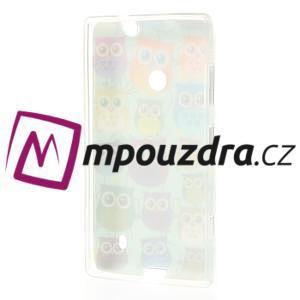 Gelové pouzdro na Nokia Lumia 520 - multi sovy 2 - 3