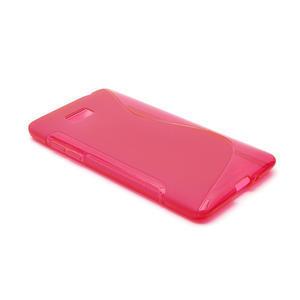 Gelové S-line pouzdro pro HTC Desire 600- červené - 3