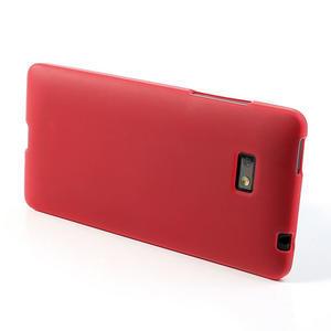 Gelové matné pouzdro pro HTC Desire 600- červené - 3