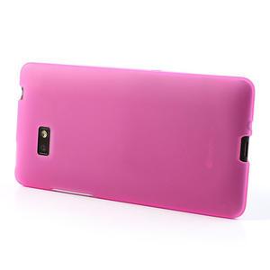 Gelové matné pouzdro pro HTC Desire 600- růžové - 3