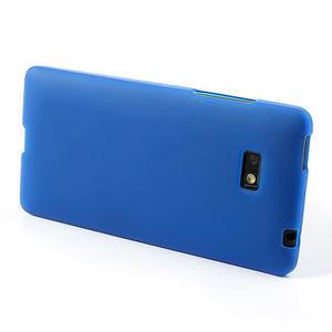 Gelové matné pouzdro pro HTC Desire 600- modré - 3