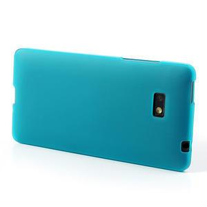 Gelové matné pouzdro pro HTC Desire 600- světlemodré - 3