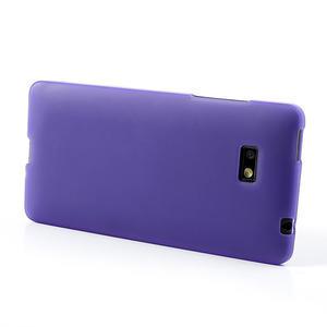 Gelové matné pouzdro pro HTC Desire 600- fialové - 3