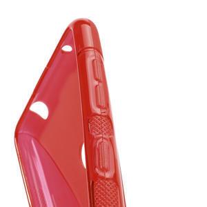 Gelové S-line pouzdro pro Nokia Lumia 625- červené - 3