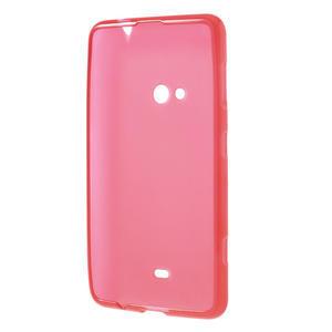 Gelové matné pouzdro pro Nokia Lumia 625- červené - 3