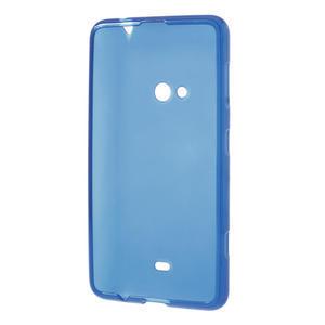 Gelové matné pouzdro pro Nokia Lumia 625- modré - 3