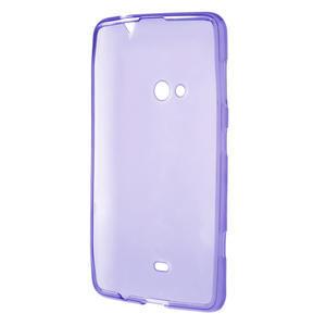 Gelové matné pouzdro pro Nokia Lumia 625- fialové - 3