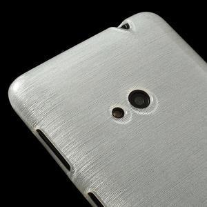 Gelové kartáčové pouzdro na Nokia Lumia 625 - bílé - 3