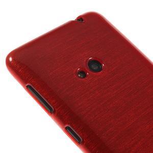 Gelové kartáčové pouzdro na Nokia Lumia 625 - červené - 3