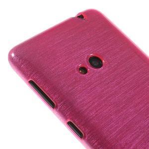Gelové kartáčové pouzdro na Nokia Lumia 625 - růžové - 3