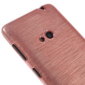 Gelové kartáčové pouzdro na Nokia Lumia 625 - světlerůžové - 3