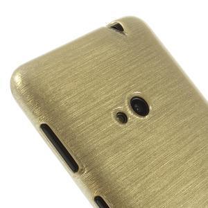Gelové kartáčové pouzdro na Nokia Lumia 625 - zlaté - 3
