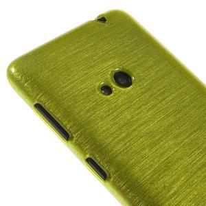 Gelové kartáčové pouzdro na Nokia Lumia 625 - zelené - 3