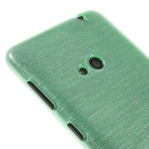 Gelové kartáčové pouzdro na Nokia Lumia 625 - cyan - 3