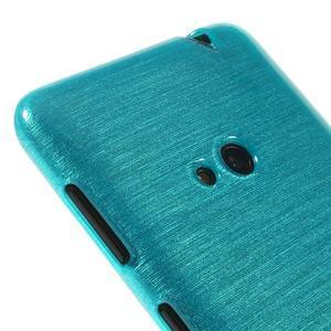 Gelové kartáčové pouzdro na Nokia Lumia 625 - modré - 3
