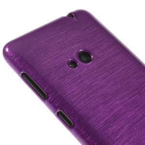 Gelové kartáčové pouzdro na Nokia Lumia 625 - fialové - 3